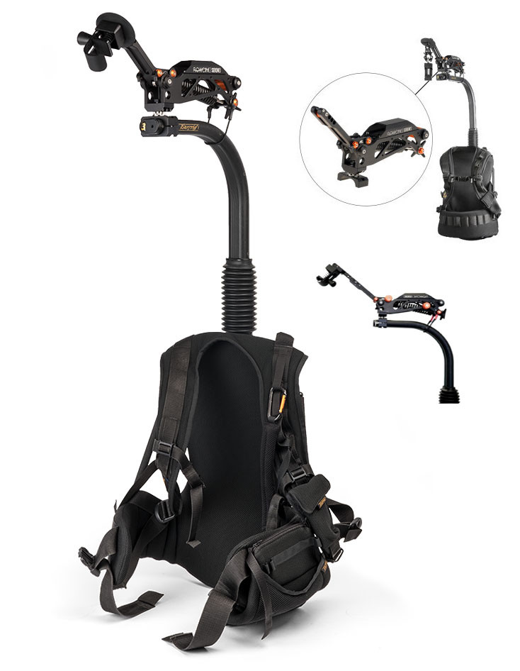 Easy Rig Vario 5 hire london with flowcine + extension arm for extra smooth balance